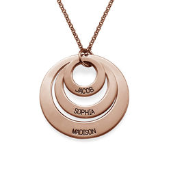 Jewelry for Moms - Three Disc Necklace with Rose Gold Plating product photo