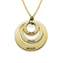 Jewelry for Moms - Three Disc Necklace in 10K Gold product photo