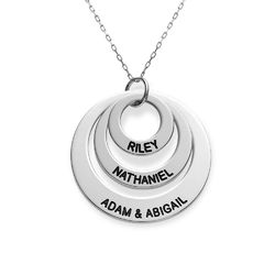 Three Disc Necklace in 10K White Gold product photo