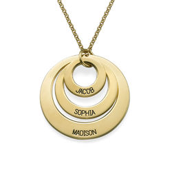 Jewelry for Moms - Three Disc Necklace in Vermeil product photo