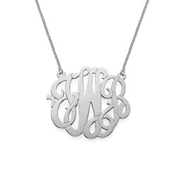 Premium Monogram Necklace in Sterling Silver product photo