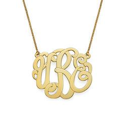Premium Monogram Necklace in Gold Plating product photo