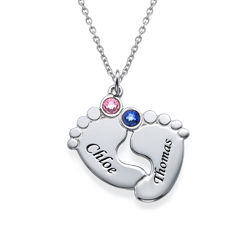 Personalized Baby Feet Necklace product photo