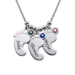 Mom Jewelry - Baby Feet Necklace product photo