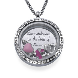 Its a Girl Floating Locket product photo