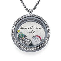 Merry Christmas Floating Locket product photo