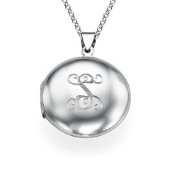 Personalized Initial Locket in Sterling Silver product photo