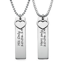 Personalized Bar Necklace for Couples product photo