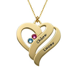 Two Hearts Forever One Necklace - 10k Gold product photo