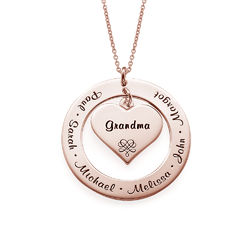 Grandmother Necklace with Rose Gold Plating product photo