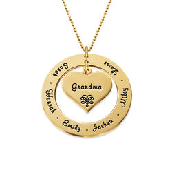 10K Gold Grandmother Necklace product photo