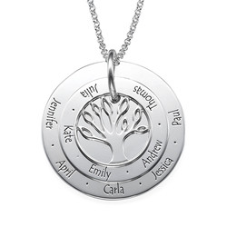 Personalized Mom Jewelry - Family Tree Necklace product photo
