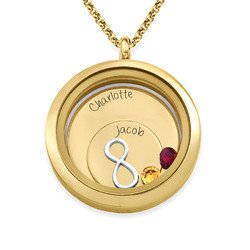 Infinite Love Floating Locket with Gold Plating product photo