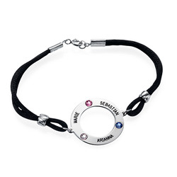 Personalized Circle Bracelet with Birthstones product photo