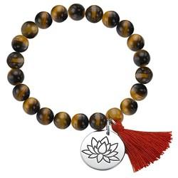 Yoga Jewelry - Lotus Flower Bead Bracelet product photo