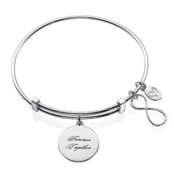 Infinity Charm Bangle Bracelet product photo