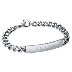 ID Bracelet for Men in Stainless Steel product photo