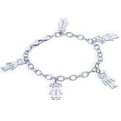 Sterling Silver Engraved Kids Bracelet product photo