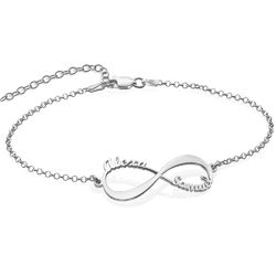 Infinity Bracelet with Names - Sterling Silver product photo