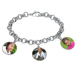 Round Shaped Photo Charm Bracelet product photo