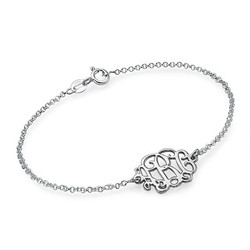 Sterling Silver Monogram Bracelet / Anklet product photo