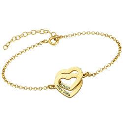 Interlocking Hearts Bracelet with 18K Gold Plating product photo