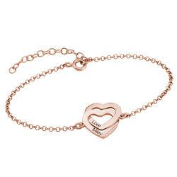 Interlocking Hearts Bracelet with 18K Rose Gold Plating product photo