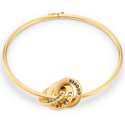 Russian Ring Bangle Bracelet in Vermeil product photo