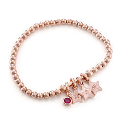 Having a Ball Bracelet with Custom Charms in Rose Gold Plating product photo