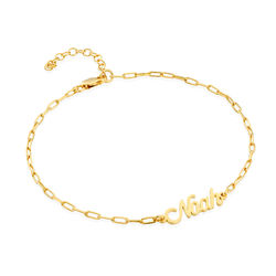 Costume Paperclip Name Bracelet/Anklet in Gold Plating product photo