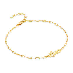 Costume Paperclip Name Bracelet/Anklet in Gold Vermeil product photo