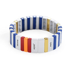 Rendezvous Tile Bead Bracelet with Names product photo
