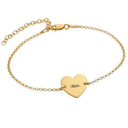Heart Anklet in Gold Plating product photo