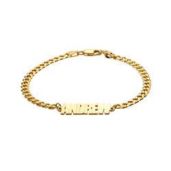 Men's Name Chain Bracelet in 18k Gold Plating product photo