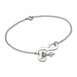 Silver Infinity Initial Bracelet product photo