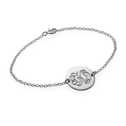 Sterling Silver Monogram Disc Bracelet product photo