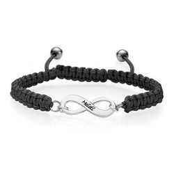 Black Infinity Friendship Bracelet product photo