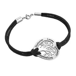 Sterling Silver Heart Family Tree Bracelet product photo