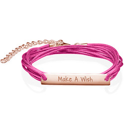 Inspirational Make a Wish Bar Bracelet product photo