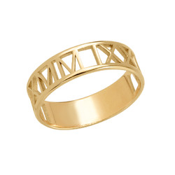 Gold Plated Roman Numeral Ring product photo