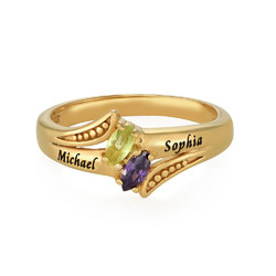 Personalized Birthstone Ring in Gold Plating product photo