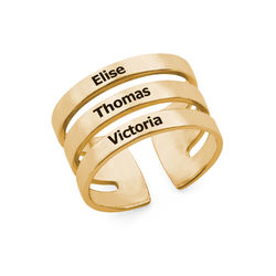 Three Name Ring in Vermeil product photo