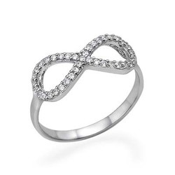 Fully Encrusted Cubic Zirconia Infinity Ring product photo