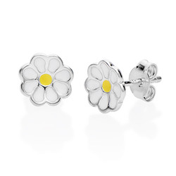 Enamel Flower Earrings for Kids product photo