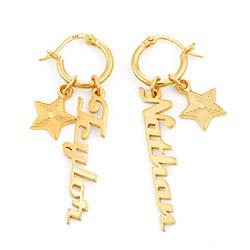 Siena Drop Name Earrings in Vermeil product photo