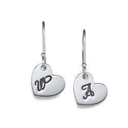 Dangling Initial Heart Earrings product photo