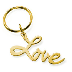 18K Gold Plated Love Keychain product photo