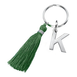 Personalized Keychain with Initial and Tassel product photo