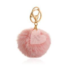 Custom Pom Pom Keychain & Heart Charm product photo