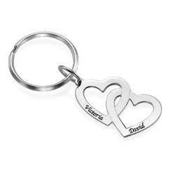 Sterling Silver Heart in Heart Keychain product photo